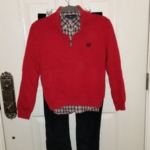 RL Sweater, Pants, and Button down Shirt Outfit